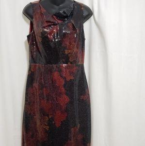 Elie Tahari Sequin Sheath Dress